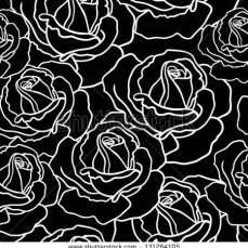 stock-vector-seamless-roses-pattern-black-and-white-seamless-pattern-131264105
